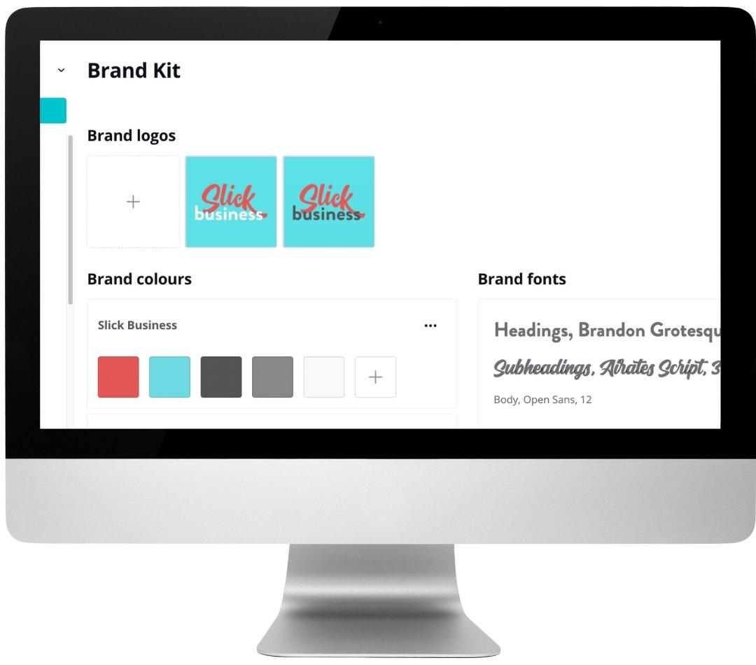 Canva brand kit screen